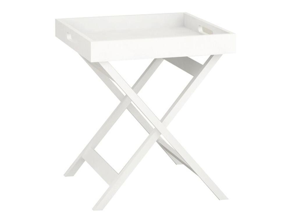 Fin Bakkebord i hvid - Sofahuset QZ-02